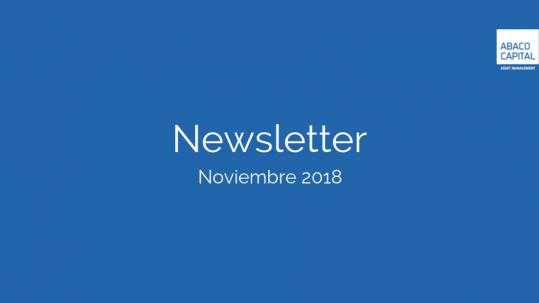 imagen de cabecera de la publicacion de la newsletter de noviembre de 2018